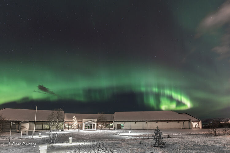 Nordlys over museet